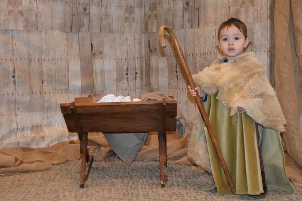 Toddler dressed as a shepherd