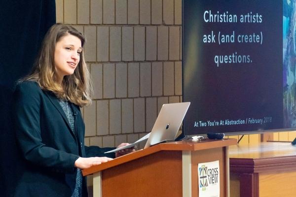 Artist Anna Leigh Biedenbender talks members of Cross View about being a Christian artist