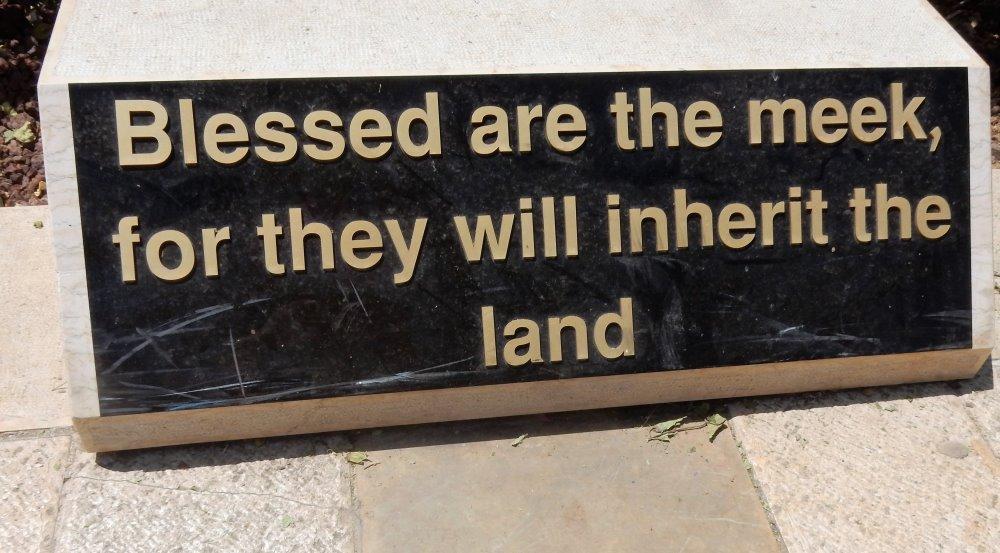 Beatitudes Marker in Israel