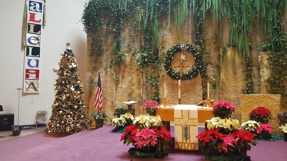 The garden-like sanctuary of King of Kings Lutheran Church, Roseville, Minnesota