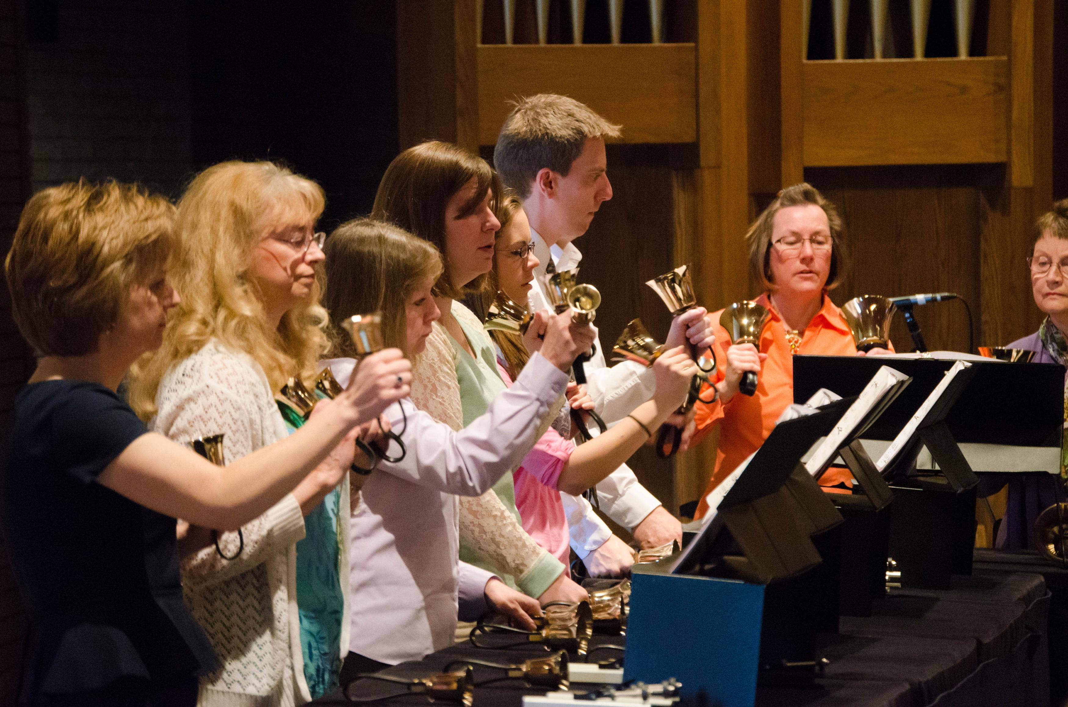 Cross View's bell choir