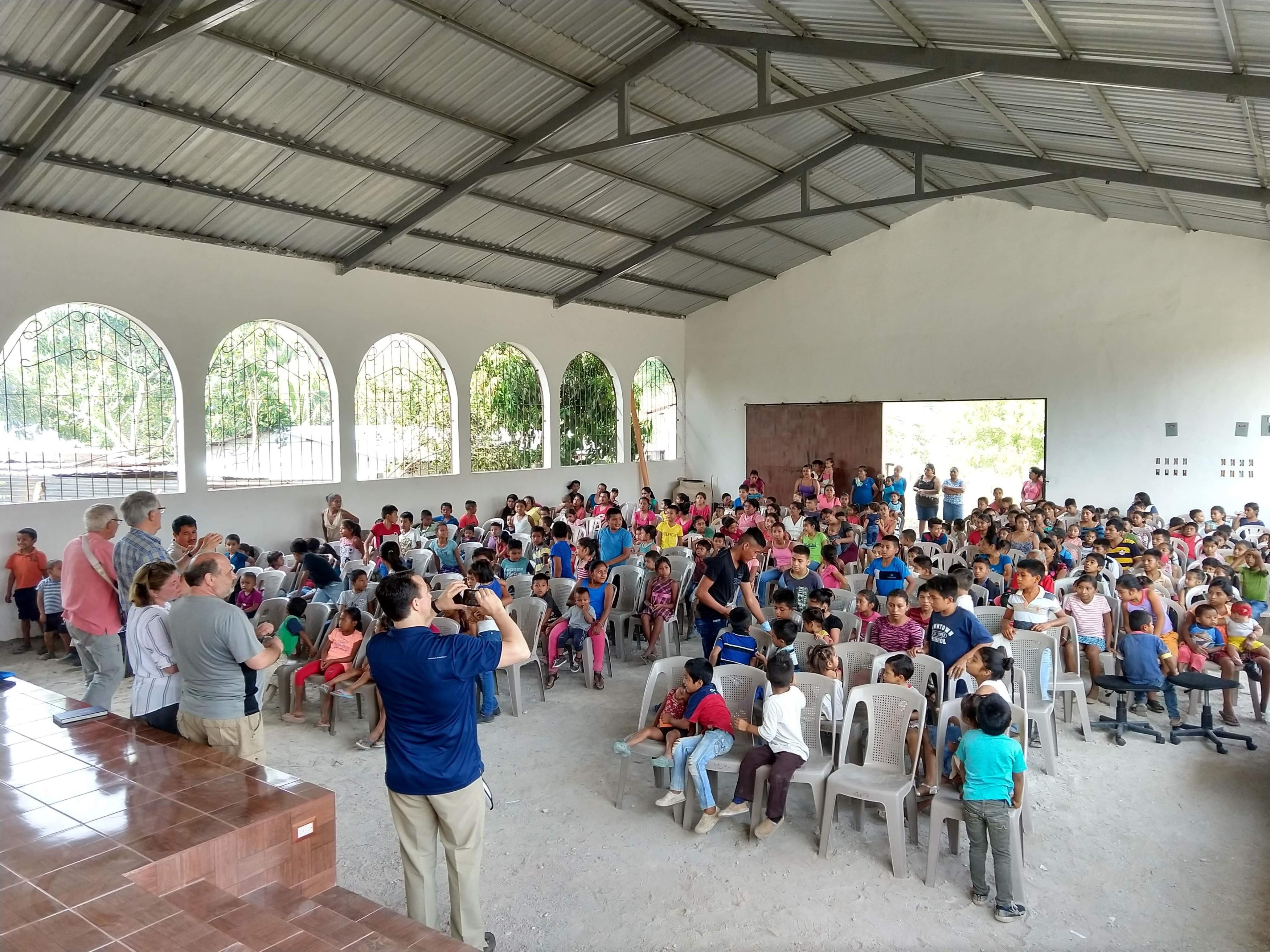 Pastor Steve Wheeler at a church gathering in Guatemala