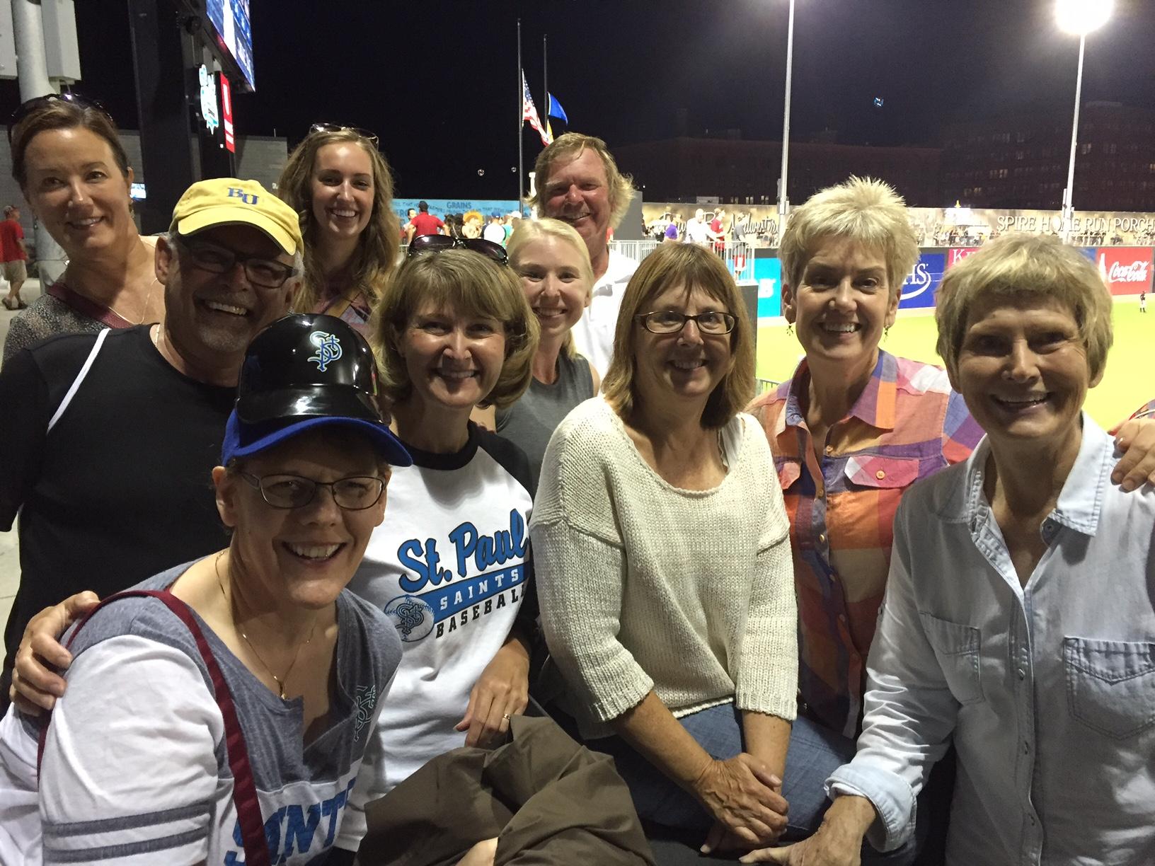 Small group at at St. Paul Saints game.