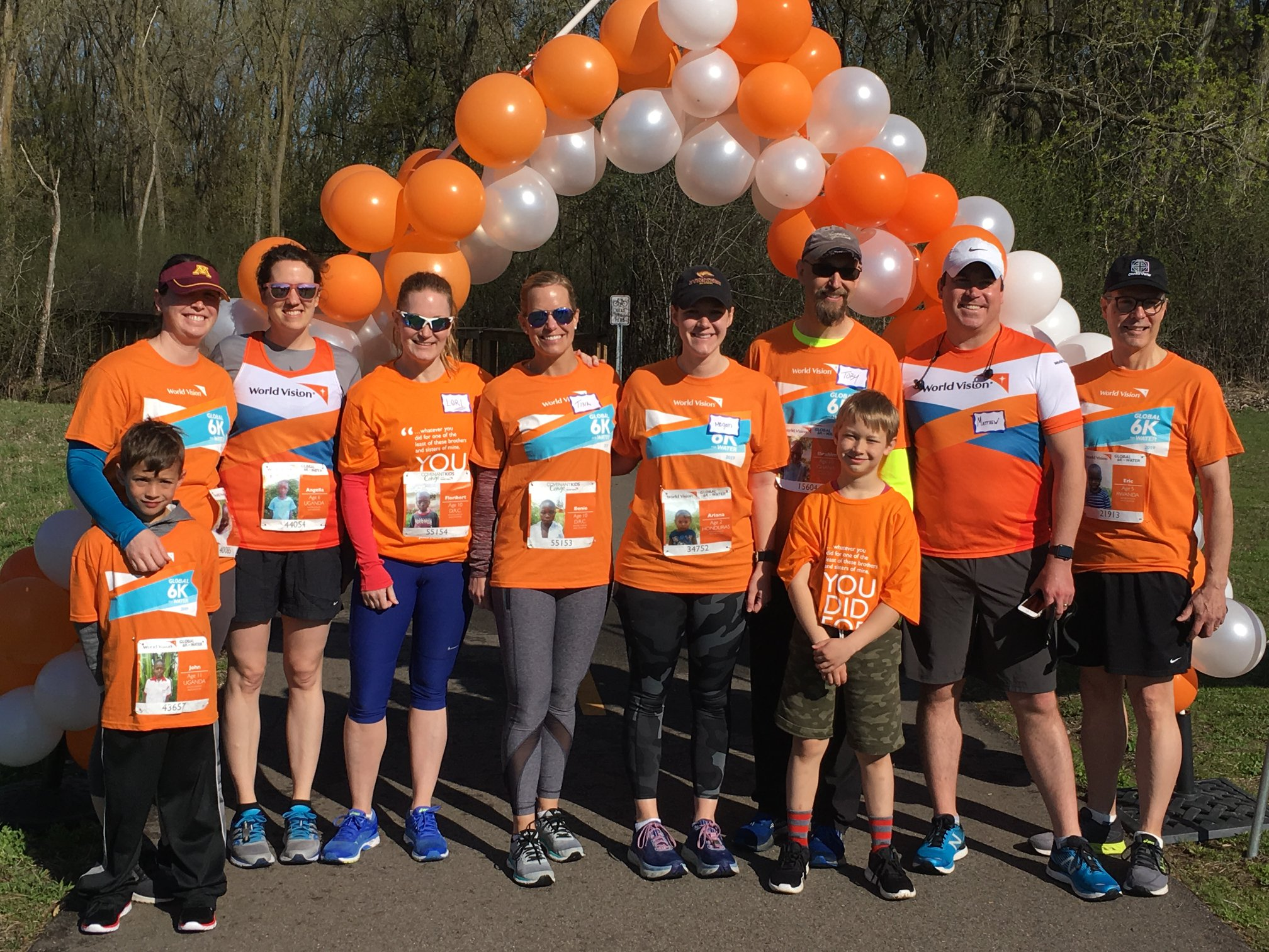 Cross View's Team World Vision runners